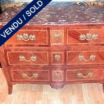 Commode in plum wood and marble, XVIIIth - SOLD