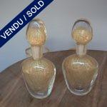 Flacons dorés en verre de Murano - VENDU