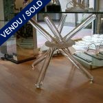 Table en verre transparent 4 tubes - VENDU