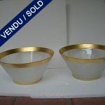 Paire de coupes en Murano signé SEGUSO - VENDU