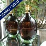 Murano, set of bottle-shaped lamps - SOLD