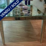 Table in mirror, with graven diamond - SOLD