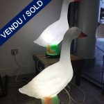 Ref : LL351 - Gladys Goose – Pair of table lamps in plastic - SOLD