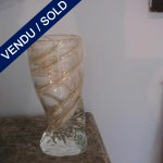 Ref : V10  - Vase en verre de Murano doré - VENDU