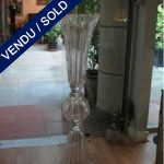 Vase verre de Murano transparent - VENDU