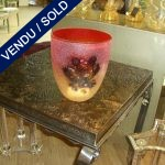 "Red vase signed by ""BARBINI"" rouge with picture - SOLD"