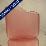 """Ref : V13 - Vase """"CENEDESE"""" de forme asymétrique"""