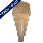 Un lustre style des années folles en verre de MURANO - VENDU