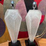 Ref : LL437 - paire de lampes Murano - Toso