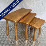 Ref : MT990 - Set of 3 nesting tables - Meublefabriek Oisterwijk