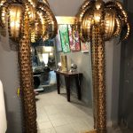 Ref : MI980 - Mirror / Trumeau with two palm tree appliques on each side